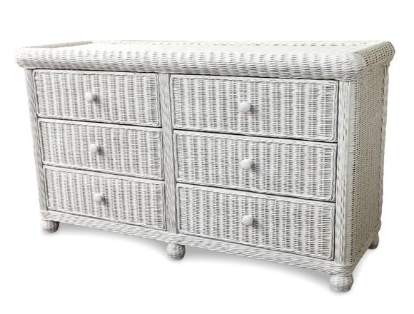 Wicker 6 Drawer Dresser - Elana