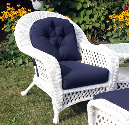 White Outdoor Wicker Chair: Montauk Collection